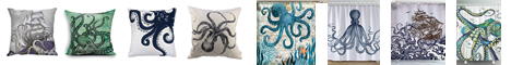 Pctopus Pillow and Shower Curtain